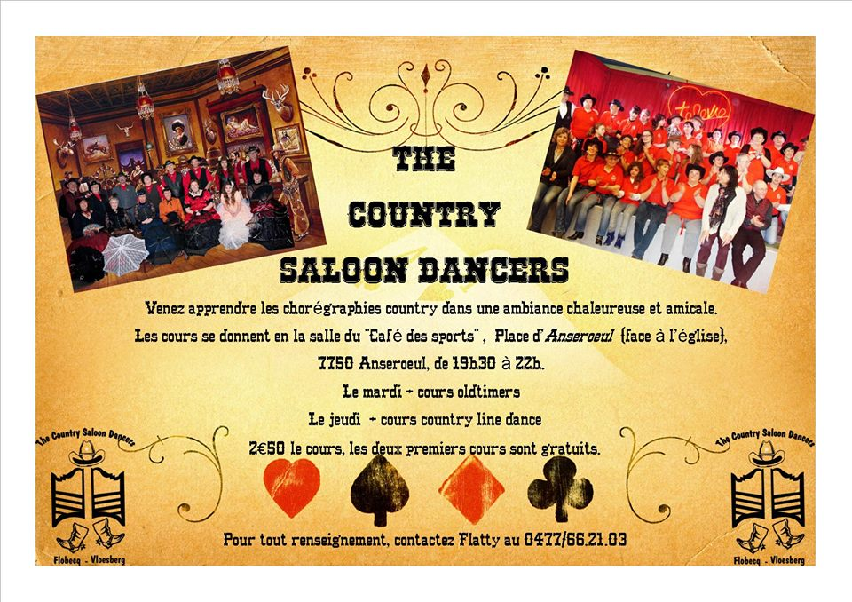 The country saloon dancers